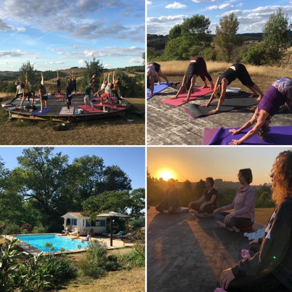 photos retraite yoga